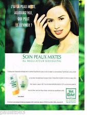 PUBLICITE ADVERTISING 085  1996  Les cosmétiques NATURE YVES ROCHER soins peau