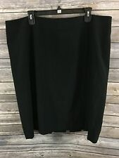 Semantiks Women's Plus Black Straight Pencil Skirt Size 20W