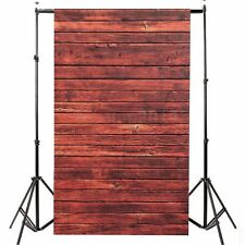 3x5FT Photography Backdrops Photo Red Wooden Wall Floor Studio Props Background