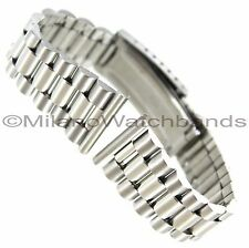 22mm Hadley Roma Stainless Straight End Fold Over Clasp Watch Band 5206W-SE