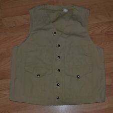 Vintage CC Filson Style 8 Cotton Canvas Field Vest 40 Hunting Fishing Khaki