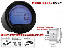 Digital Motorcycle Speedometer Speedo Fuel Gauge KOSO DL02s with Speed sensor