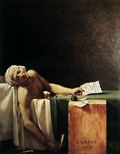 Excellent Oil painting Jacques-Louis David - Portrait The Death of Marat canvas