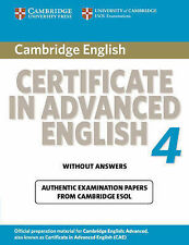 Cambridge Certificate in Advanced English 4 for Updated Exam Student's Book with