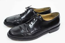 Johnston & Murphy CELLINI Mens 10 M Black Oxfords Dress Shoes Made in Italy