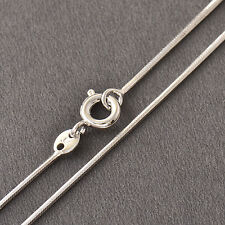 Mens Womens Boys Snake Chain Necklace White Gold Filled Stainless steel necklace