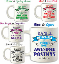 Birthday Gift POSTMAN any occupation Personalised Mug Coffee Cup Brother Sister