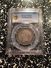 1873 Newfoundland 50 Cent Silver! PCGS VF30 G035 Low Mintage! Key Date!
