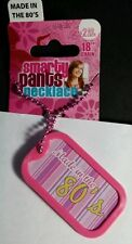 "MADE IN THE 80'S BABY PINK SMARTY PANTS DOG TAG 18"" NECKLACE NEW"