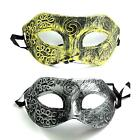 Men Boy Retro Half Face Eye Mask Masquerade Fancy Dress Cosplay Stage Prop Kit