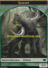 2x Spielstein Elefant (Token Elephant) Commander 2014 Magic