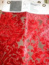Paul Robert furniture , Red  velvet fabric sample
