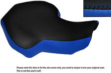 BLACK & R BLUE CUSTOM FITS KAZUMA 100 ATV QUAD LEATHER SEAT COVER