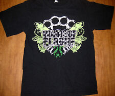 WINDS OF PLAGUE small T shirt California deathcore tee Upland brass knuckles OG