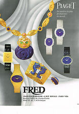 PUBLICITE ADVERTISING  1972   FRED  montres PIAGET