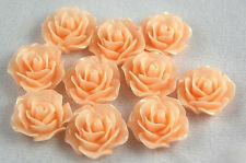 10pcs Peach Flowers Resin Flatbacks Scrapbooking Cabochons Bow Jewelry Making
