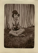 PHOTO ANCIENNE - VINTAGE SNAPSHOT - ENFANT DÉGUISEMENT MODE ZOUAVE - DISGUISE