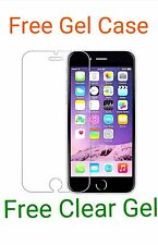 Apple Iphone 6 HD Tempered Glass Temper Glass Screen Protector + Free Gel Case