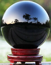 Very nice NATURAL OBSIDIAN POLISHED CRYSTAL SPHERE BALL +stand 60mm  z