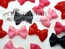 Free Shipping 11pcs Resin Ribbon Bow Tie Butterfly Bow FLAT BACK Cabochons F1113