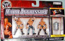 2006 Jakks WWE Micro Aggression Triple H, Shawn Michaels & Randy Orton Series 2