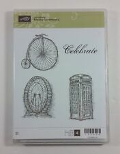 Stampin' Up! FEELING SENTIMENTAL Clear Rubber Stamp Vintage Phone Booth Ferris
