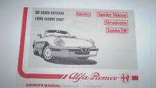Alfa Romeo Spider Owner's Manual - 1990 -  PDF Version