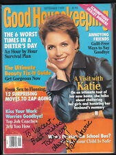 Katie Couric Signed Good Housekeeping Sept 1999 Magazine Personalized auto