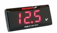 New KOSO LED Display Super Slim Voltmeter Volt Meter 8 to 18V - Red