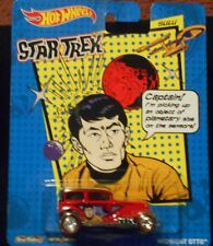 HW HOT WHEELS 2014 STAR TREK MIDNIGHT OTTO HOTWHEELS RED REAL RIDER TIRES SULU