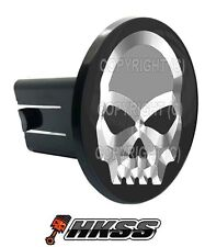 Universal Class 2  3 Tow Hitch Receiver Insert Cover Plug - CHROME SKULL G CR0