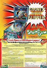 Publicité advertising 1980 Les Chewing gum Spring gum Gagnez un flipper