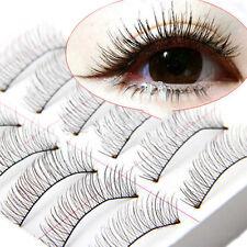 10 Paar Neu Mode Handgemachtes weiche lange Falsche Wimpern Eye Lashes
