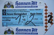 TICKET 1986/87 Bor. Mönchengladbach - Werder Bremen