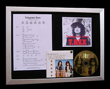 T REX+MARC BOLAN Telegram Sam LTD TOP QUALITY CD FRAMED DISPLAY+FAST GLOBAL SHIP