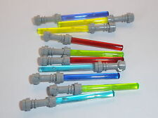 Lego 10 Lightsabers Translucent Red Blue Purple Bright & Neon Green for Minifigs