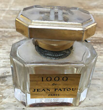 EMPTY Perfume 1000 de Jean Patou Paris France Glass Crystal Bottle Vintage 1 Oz