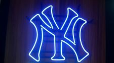 "New York Yankees Real Glass Tube Beer Bar Neon Light Sign 16""x14"" [High Quality]"