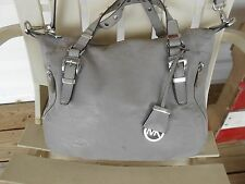 Michael Kors Grey Leather Hobo Shoulder/ Crossbody/ Hand/Satchel Bag