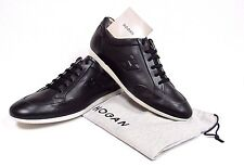 NEW Hogan by Tods Mens Black Leather Sneakers Trainers Size 11.5 /10.5 UK