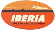 Iberia  Airlines (Spain)       Vintage-Looking   Sticker/Decal/Luggage Label
