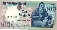 PORTUGAL 100 ESCUDOS 31 JANUARY 1984 PICK 178 C LOOK SCANS