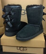 UGG Australia Kids Bailey Bow Black Bow Boots Kids Size US 5 Womens US 7