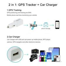 Realtime GPS Tracker GSM GPRS Locator Auto Car USB Charger For Phone Camera W1L1