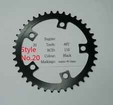 NOS Sugino Chain ring sprocket 40T BCD 110mm silver black color cr21us