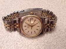Mens 14KT/SS Rolex Oyster Perpetual Datejust! Reference 6605! LOOK!