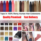Full Head Women Tape in 100% Real Human Hair Extensions 16-24inch Hair Beauty