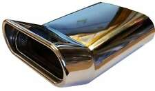 Skoda Octavia 230X160X65MM OVAL POSTBOX EXHAUST TIP TAIL PIPE CHROME WELD ON
