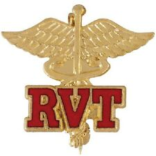 RVT Caduceus Lapel Pin Registered Veterinary Technician Vet Tech Graduation New