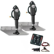 "Lenco 12"" x 12"" Stand.Trim Tab Kit w/ LED Indicator Switch Kit 15109-103 12 Volt"